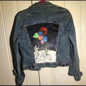 painted jean jacket